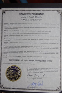 South Dakota CHD Awareness Week Proclamation